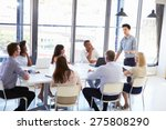 businessman presenting to... | Shutterstock . vector #275808290