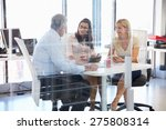 group of colleagues meeting... | Shutterstock . vector #275808314