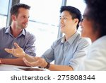 three business professionals... | Shutterstock . vector #275808344