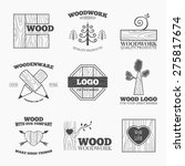 woodworking badges logos and... | Shutterstock .eps vector #275817674