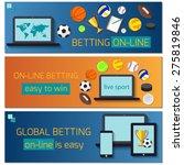 concept for web banner sports... | Shutterstock .eps vector #275819846