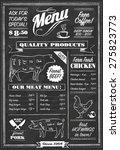 vector chalkboard restaurant... | Shutterstock .eps vector #275823773