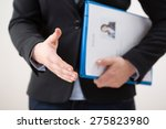horizontal view of woman with... | Shutterstock . vector #275823980