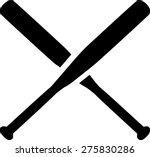 baseball crossed bats | Shutterstock .eps vector #275830286