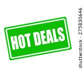 Hot Deals White Stamp Text On...