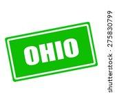 Ohio White Stamp Text On Green...