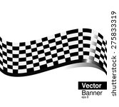 checkered flag banner | Shutterstock .eps vector #275833319