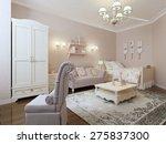 avant garde bedroom design. 3d... | Shutterstock . vector #275837300