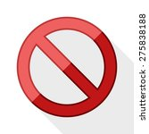 no sign with long shadow on... | Shutterstock .eps vector #275838188