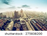 aerial view of the city viaduct ... | Shutterstock . vector #275838200