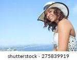 portrait beautiful hat | Shutterstock . vector #275839919