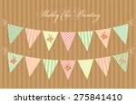 cute vintage shabby chic... | Shutterstock .eps vector #275841410
