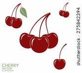 cherry. set. vector... | Shutterstock .eps vector #275842394
