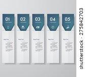 design clean number banners... | Shutterstock .eps vector #275842703