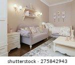 art deco bedroom style. 3d...   Shutterstock . vector #275842943