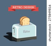retro toaster with bread | Shutterstock .eps vector #275849816