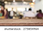 empty wood table top with... | Shutterstock . vector #275854964