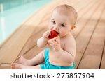 Cute Little Boy Eats...