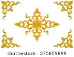 pattern of flower carved... | Shutterstock . vector #275859899