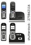 black landline phone volume on... | Shutterstock .eps vector #275862116
