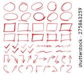 red circle set  highlight... | Shutterstock .eps vector #275863259