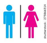 men and women icons vector... | Shutterstock .eps vector #275866514