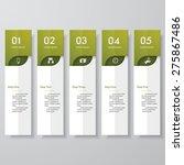 design clean number banners... | Shutterstock .eps vector #275867486