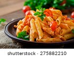 Penne pasta in tomato sauce...