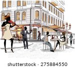 series of the streets with...   Shutterstock .eps vector #275884550