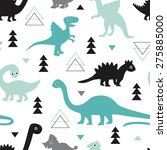 Seamless Kids Geometric Animal...