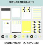 romantic and love cards  notes  ... | Shutterstock .eps vector #275892230
