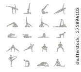 image of people performing yoga ... | Shutterstock .eps vector #275896103