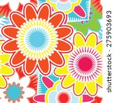 bright seamless pattern with... | Shutterstock .eps vector #275903693