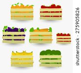 fruits and vegetables crate.... | Shutterstock .eps vector #275905826