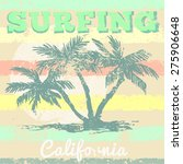 california surf typography ... | Shutterstock .eps vector #275906648
