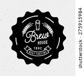 brew house vintage logotype for ... | Shutterstock .eps vector #275915984
