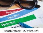 resume letter background and... | Shutterstock . vector #275926724