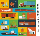 freight transportation and...   Shutterstock .eps vector #275928278