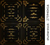 vector set of gold decorative... | Shutterstock .eps vector #275940416