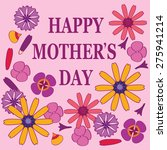 happy mother's day   Shutterstock .eps vector #275941214