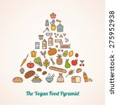 the vegan food pyramid composed ... | Shutterstock .eps vector #275952938