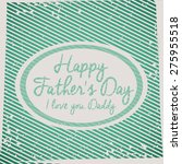 fathers day design over retro... | Shutterstock .eps vector #275955518