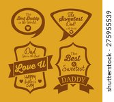 fathers day design background...   Shutterstock .eps vector #275955539