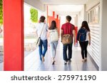 rear view of a group of...   Shutterstock . vector #275971190
