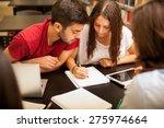 group of hispanic students...   Shutterstock . vector #275974664