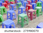 neat rows of stool  | Shutterstock . vector #275980070