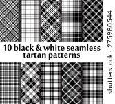 10 B W Seamless Tartan Patterns