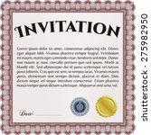 invitation. good design. border ... | Shutterstock .eps vector #275982950