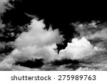 Black And White Fluffy Clouds...