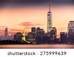 lower manhattan with freedom... | Shutterstock . vector #275999639